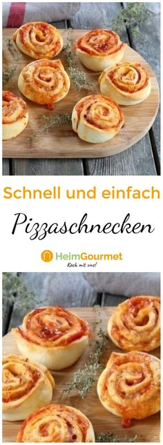 Einfach vorzubereiten und noch schneller verspeist: Perfektes Fingerfood aus ein… Easy to prepare and eat even faster: Perfect finger food made from simple pizza dough, tomato sauce and cheese! Snacks Für Party, Easy Snacks, Party Party, High Protein Recipes, Protein Foods, Cereal Recipes, Pizza Recipes, Puff Pastry Pizza, Puff Pastries