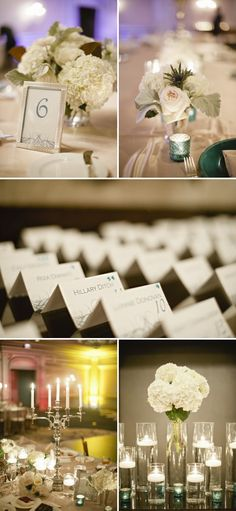 See place cards - use silver rhinestones or pearls instead