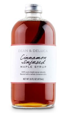 Cool!  Infuse real maple syrup with a cinnamon stick or a vanilla bean! Neato!