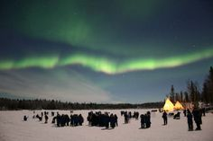 Te compartimos esta imagen de una Aurora Boreal, fenómeno atmosférico que se presenta frecuentemente en el área de YellowKnife, al norte de Canadá.