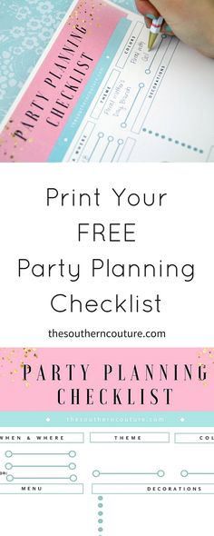 Ever plan a party and feel like everything is so chaotic? Print your FREE party planning checklist to keep yourself organized with all your notes in one place.