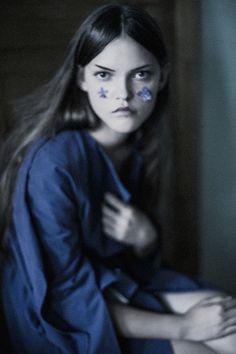 sasha trishina by iana tokarchuk Editorial Photography, Portrait Photography, Fashion Photography, Kind Of Blue, Shades Of Blue, Beautiful Images, Color Inspiration, Editorial Fashion, Blues