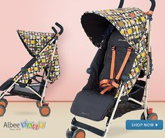 What's New Wednesday!  Iconic style meets classic British Buggy design in the new Maclaren Quest Orla Kiely Special Edition.  This stroller features authentic Orla Kiely materials in a colorful pattern that's perfect for spring and summer! Matching accessories included! #WhatsNewWednesday  Shop Now! #BabyGear #AlbeeBaby #Baby #Stroller