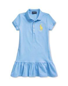 Polo Ralph Lauren Girls' Short-Sleeve Big Pony Dress, Little Kid - Exclusive - Bright Blue Polo Dress Outfit, Dress Outfits, Girl Outfits, Women Brands, Short Girls, Girls Shopping, Polo Ralph Lauren, Girls Dresses, Pony
