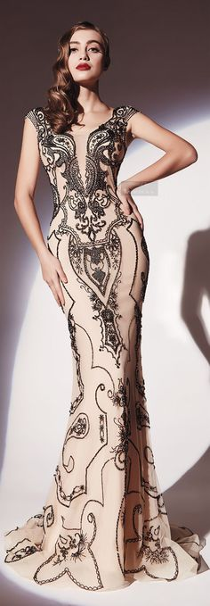 Dany Tabet Spring-summer 2014.  http://es.pinterest.com/meriyay/fashion-dresses/