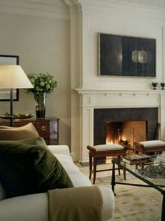 20 Great Fireplace Mantel Decorating Ideas | laurel home blog | fabulous living room by Victoria Hagan