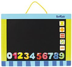 Boikido Wooden 2 Sided Magnetic Black/White Board -- You can get more details at