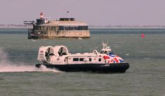 https://flic.kr/p/WMPAkC | Fortuitous | Caught on her way from Southsea to the Isle of Wight, Hover Travels' Hovercraft GH-2161 'Island Flyer' passes Spitbank Fort - one of the Solent's Napoleonic Forts, now available as a 5-star hotel experience solentforts.com/spitbank-fort/ IMG_3929