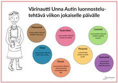 Viikkotehtävät - Värinautit Chart, Education, Onderwijs, Learning