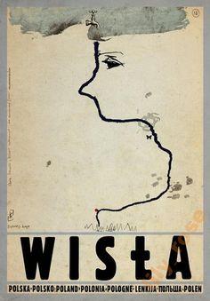 Wisla Check also other posters from PLAKAT-POLSKA series Original Polish poster autor plakatu: Ryszard Kaja data druku: 2014 wymiary plakatu: ok. Poster City, Poster S, Poster Prints, Poster Ideas, Polish Movie Posters, Art Deco Posters, Retro Posters, Art Deco Period, Typography Prints