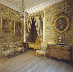 Gripsholm interiors - the Princess Bed Chamber , Sweden