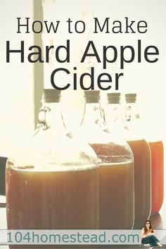 Learn to make hard apple cider at home. It's both easy to make and delicious. You can customize your flavors with the apples and sugars that you use. #homebrewingrecipescider