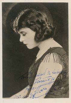 Theda Bara signed photo