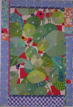 "Another one of my very early ""discoveries,"" just today learned the artist is Ruth McDowell, another of the ""Art Quilt Godesses.""  This is by far my favorite of hers."