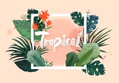 보태니컬아트 백그라운드 식물 야자수 일러스트 초록색 카피스페이스 프레임 botanical art background plants palm tree coconut illust green copyspace frame illustration image design #clipartkorea #tongroimages