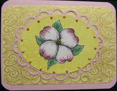 Card by Nancy B. using our Vintage Swirls Background Rubber Stamp
