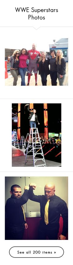 """""""WWE Superstars Photos"""" by lonely-wrestling-fan ❤ liked on Polyvore featuring WWE, superstar, wwe, home, home decor, corey graves, finn, jewelry, dean ambrose and tops"""