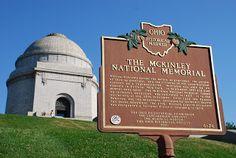 William McKinley, 25th president, born in Niles, Ohio. Monument and Museum, Canton, Ohio