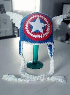 Captain America Superhero Crochet Hat: