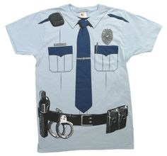 police uniform funny t-shirt