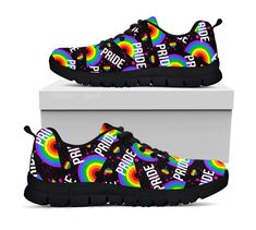 premium selection 8f6e8 6df26 Pride Shoes - LGBT Sneakers - Rainbow Shoes - Gay Pride - LGBTQ - Bisexual  - Transgender - Lesbian - Asexual - Queer - Pansexual - Gay Gift