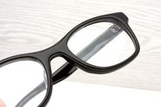Vintage Black Eyeglasses Frame Japan Mad Men Retro Women by Antiqueelse