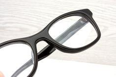 Vintage Black Eyeglasses Frame Japan Mad Men Retro Women by Antiqueelse