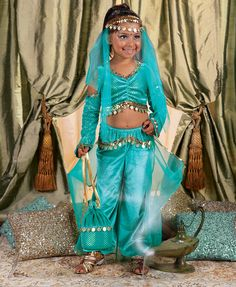 Genie in a Bottle Child Costume  sc 1 st  Pinterest & Shine costume work in progress! | Shimmer and Shine ideas ...