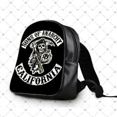 Son Of Anarchy Logo School Bag Backpacks