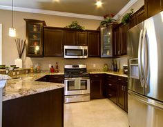 Cabinet Colors On Pinterest Dark Granite Kitchen