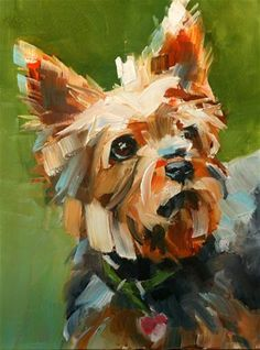 """Maggie"" - Original Fine Art for Sale - © carol carmichael - this is my mother's dog and she captured her perfectly"