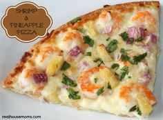 Shrimp & Pineapple Pizza 25 homemad, homemad pizza, food, drink, pizzas, pineappl pizza, pizza recipes, coupon cook, homemade pizza