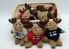Plush reindeer: Finland 18cm - Suomikauppa.fi - Online Shop For Finnish Goods!