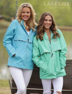Monogrammed New England Rain Jacket | Marley Lilly