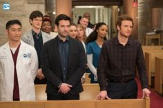 Chicago Med - Brian Tee as Ethan Choi, Colin Donnell as Connor Rhodes, Nick Gehlfuss as Will Halstead