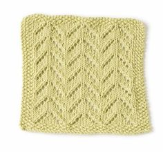 Rocky Point Beach Washcloth Pattern (Knit)