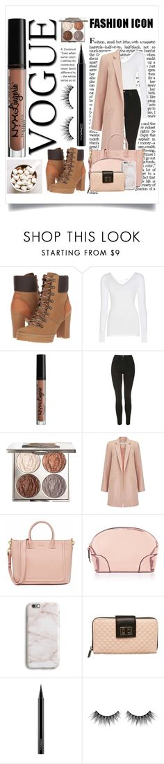 """Welcome Autumn"" by grey-eyed-freak ❤ liked on Polyvore featuring See by Chloé, Wolford, NYX, Topshop, Chantecaille, Miss Selfridge, Accessorize, Harper & Blake, MAC Cosmetics and Huda Beauty"