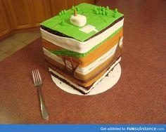 Geology cake