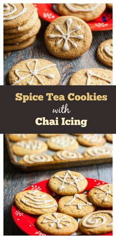 Spice Tea Cookies with Chai Icing - Perfect easy cookie for tea or coffee.