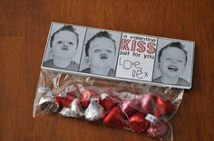 """So cute! - kids would think it was funny just trying to capture """"kissy face"""" photos for this next valentine idea"""