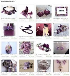 Saturday in Purple...by riagr from VintageJewelries. www.etsy.com/treasury/NDgxNDQzMzd8MjcyNjg0Njk3Mg/saturday-in-purple