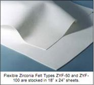 Ceramic textiles with the ability to withstand very high temperatures.   http://zircarzirconia.com/refractory-oxide-textiles/