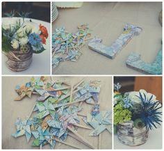J + J, SMC, Bluebird Productons, travel themed wedding