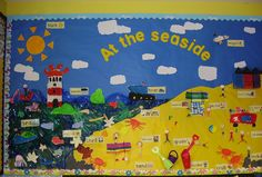 At the seaside classroom display photo - Photo gallery - SparkleBox … Maths Display, Class Displays, Classroom Displays, Photo Displays, Preschool Displays, Seaside Theme, Sea Theme, Ocean Themes, Beach Themes