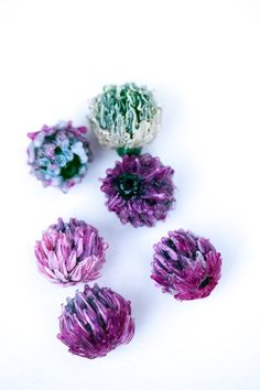 Clover / Clover flower/ floral lampwork bead / by PetrovnaLampwork, $6.00