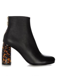 Need a new pair of fall booties? Check out these gorgeous Stella McCartney Tortoise Shell Block-Heel Faux Leather Ankle Boots. Buy it now: http://fave.co/2byzYTZ