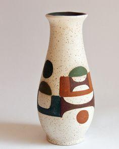 Modernist Lapid Israel Vintage Pottery Vase @ebay