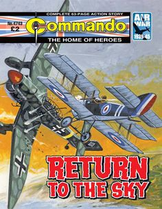 Get your digital subscription/issue of Commando-Issue 4743 Magazine on Magzter and enjoy reading the magazine on iPad, iPhone, Android devices and the web. Vintage Comics, Vintage Posters, Vintage Books, Comic Book Covers, Comic Books, Action Story, War Comics, Adventure Movies, Classic Comics