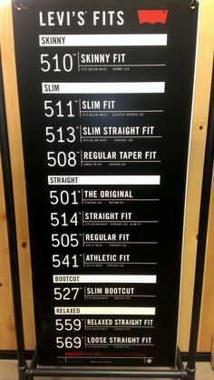 levis fit guide - Google Search