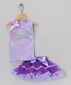 Take a look at this Lavender 'Easter' Tank & Pettiskirt - Infant, Toddler & Girls by So Girly & Twirly on #zulily today!